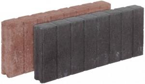 8107009, 8107019 Betonpalisade vierkant Bruin en zwart 6x20x50